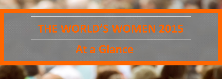 The World's Women 2015 - At a Glance